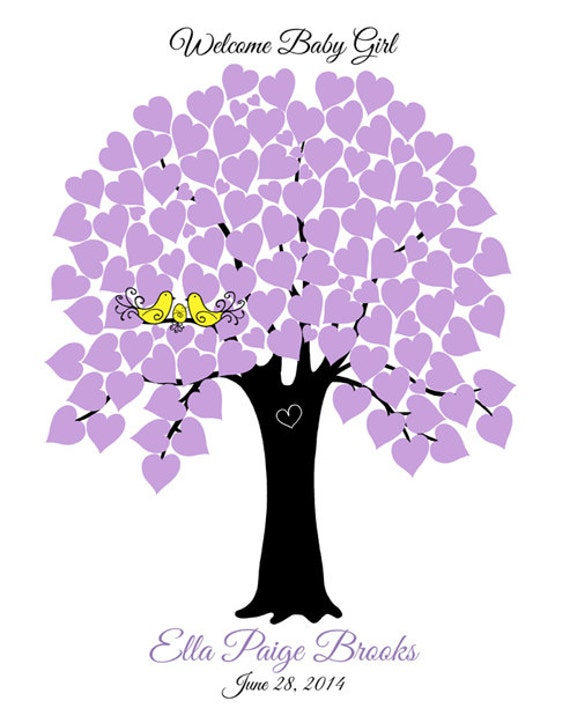 Sign in tree personalized baby shower gift baby girl baby boy baby