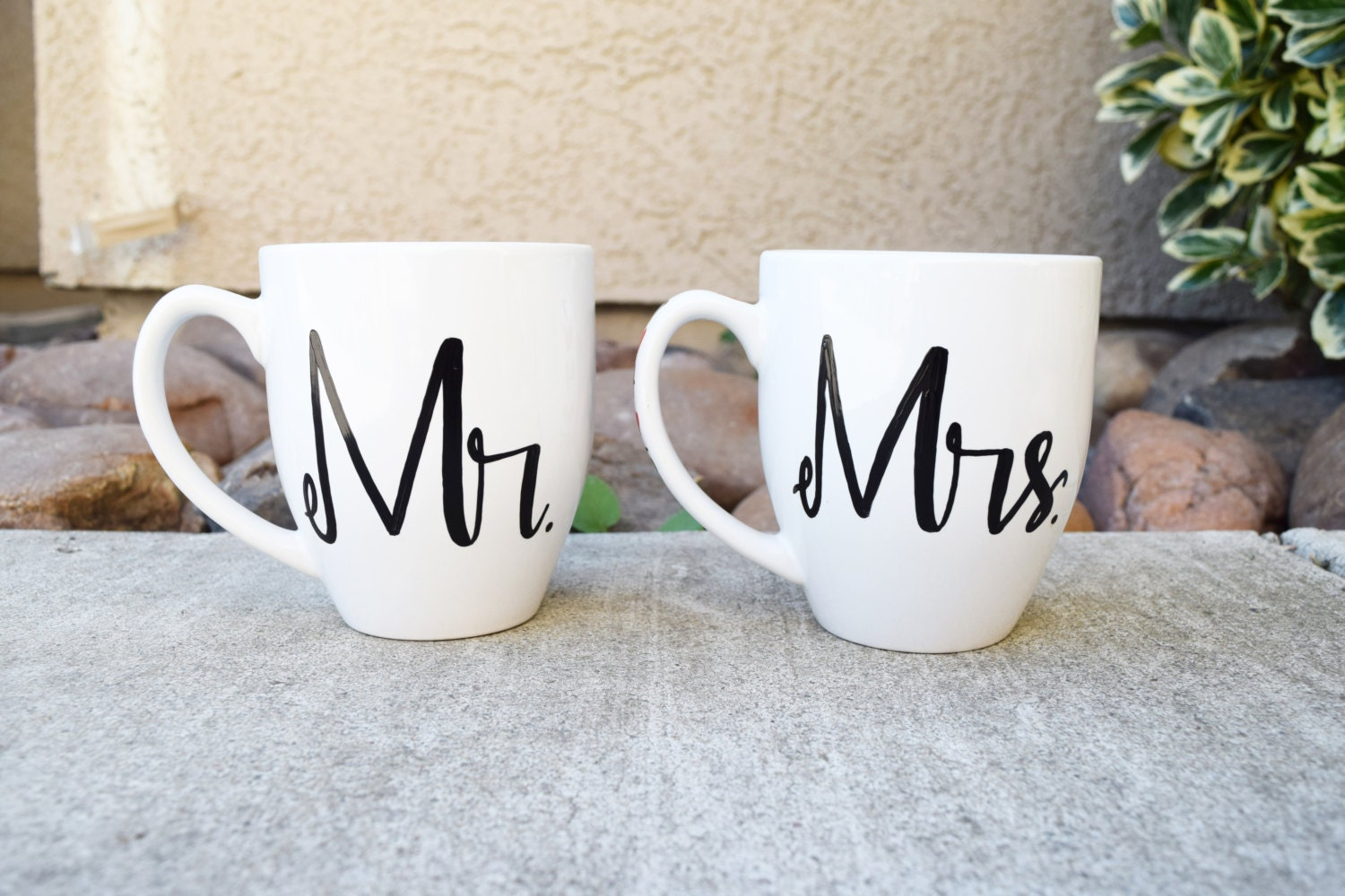 mr and mrs his and hers coffee mugs couples wedding gift. Black Bedroom Furniture Sets. Home Design Ideas