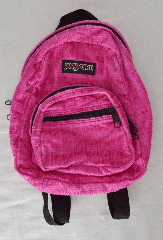 Mini Backpack Fuzzy Corduroy Pink Soft Grunge Millennium