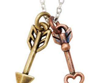 Arrow Necklace -Two-Tone