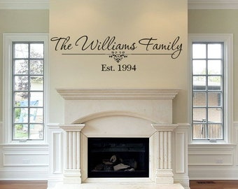 Personalized Family Name Wall Decal - Vinyl Wall Decals - Vinyl Decal - Family Vinyl Decal Custom Family Name - Wall Letter Decals Wall Art