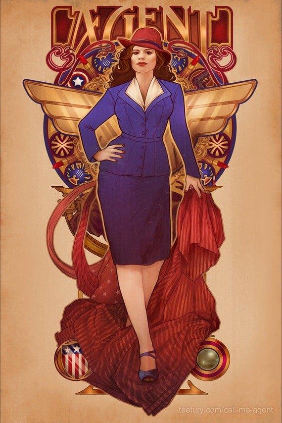 "Call Me Agent - Agent Carter - 4""x6"" Lustre Mini Print"