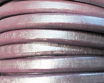 "USA STORE: 8"" Licorice Leather Metallic Grape, Bracelet Findings,"