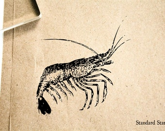 Shrimp Running Rubber Stamp - 2 x 2 inches