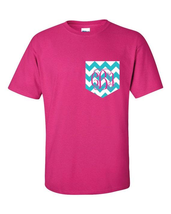 custom monogrammed t shirt monogrammed pocket tee t by