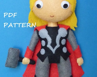 PDF patter to make a felt Thor.
