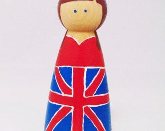 British Peg Princess, Peg people England, British peg person, British Peg doll, Peg doll, Peg people