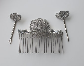 Celtic Knot Hair Comb or Hair Slides