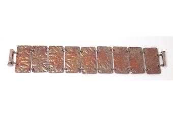 Embossed Copper Bracelet