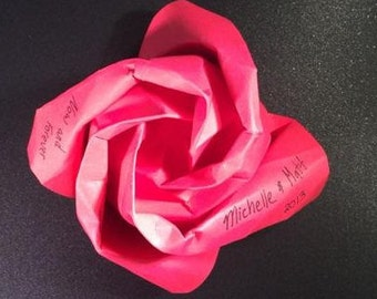Origami Roses - Romantic designs with stem and leaves