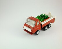 Vintage Delivery Truck,Plastic and Metal truck, Coca Cola Truck, Collectibles, Rare, Yellow  Red Truck, Micro Truck