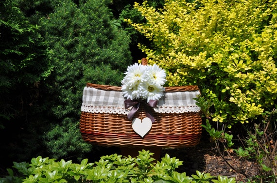 Wedding Gift Picnic Basket : gift, personalized wedding, wicker picnic basket, willow picnic basket ...