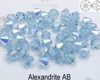8mm Swarovski Bicone Crystals - AB Alexandrite - Finish AB - Pkg of 30