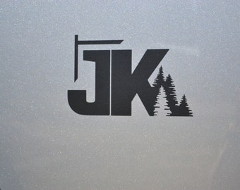 Jeep Wrangler JK with Trees Decal