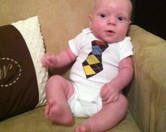 Little man tie onesie
