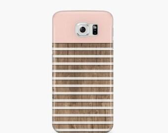 Samsung galaxy s6 case Stripe Samsung galaxy s4 case Pink Samsung s5 case Wood Samsung s3 case cute samsung case, gift idea