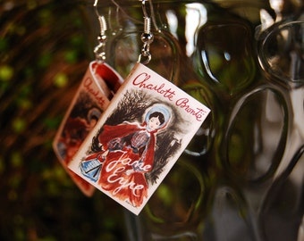 Jane Eyre Book Earrings
