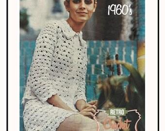 1960's 2 Piece Suit Retro Crochet Pattern – PDF Instant Download