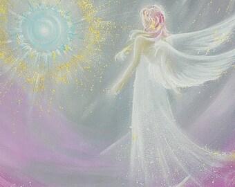 "Limited angel art photo ""angel magic"" , modern angel painting, artwork, direct from artist"