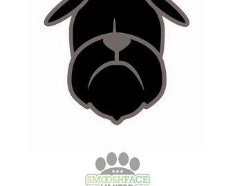 Brussels Griffon dog decal vinyl stickers - Griff in black & brown - Smooshface United Bruss breed bias - #brusselslove