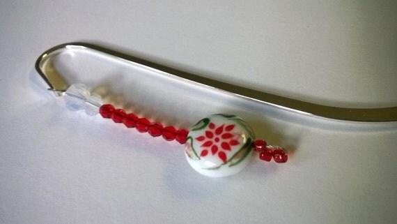 Beaded Bookmark, Book Lover Gift Idea, Gift Idea for Mom Grandma, Metal Bookmarker