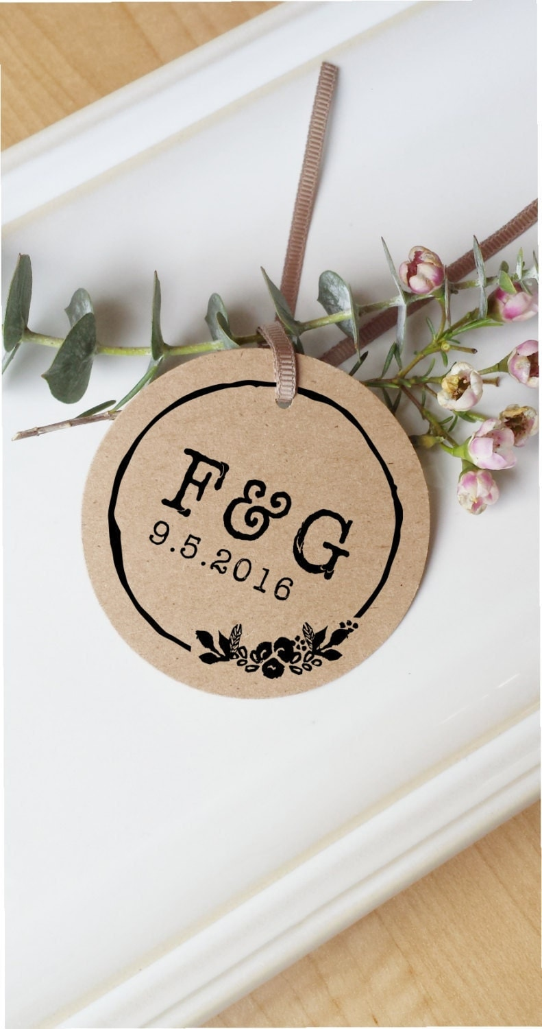 wedding stamp rustic wedding stamp initials stamp self
