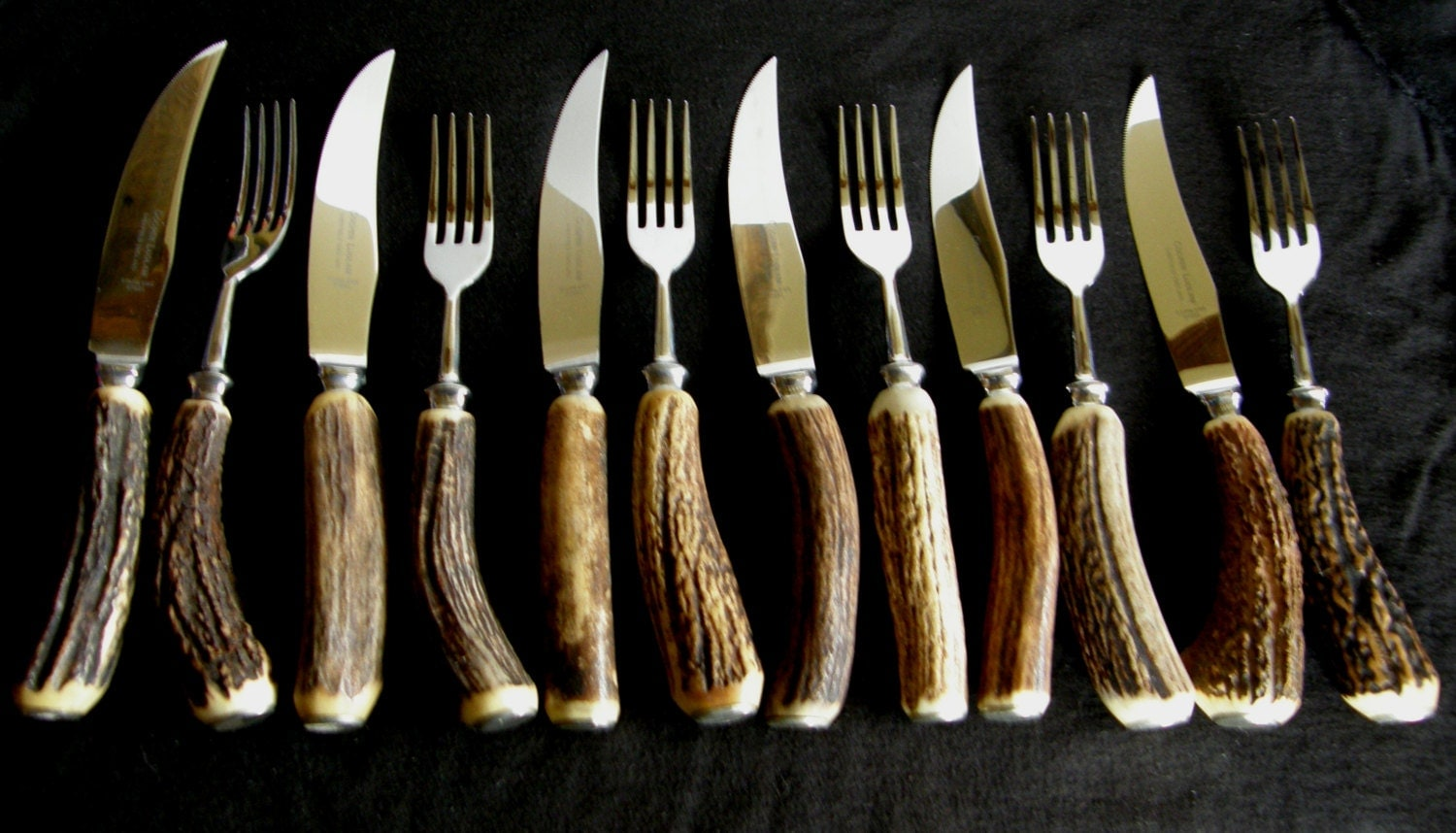 Vintage boxed set of steak knives forks by rosieschinaboutique - Knives and forks sets ...