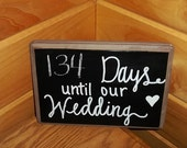 Days Until Our Wedding Chalkboard Sign, Wedding Countdown Sign, Rustic Country Wedding Decor, Bridal Shower Decor, Engagement Gift