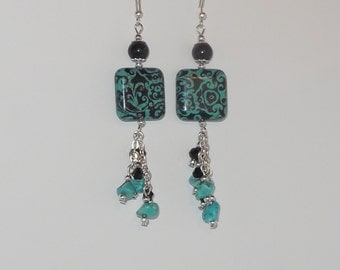 Gorgeous Turquoise dangling earrings