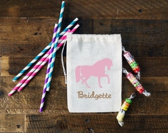 Horse Personalized Party Favor Bags {set of 10}