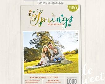 Spring Mini Session Marketing Board / Photography Marketing Board - Photoshop Template for photographers (DM23) - INSTANT DOWNLOAD