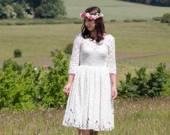 Sample Sale - Cotton Lace Dress - eco wedding dress 'Daisy'