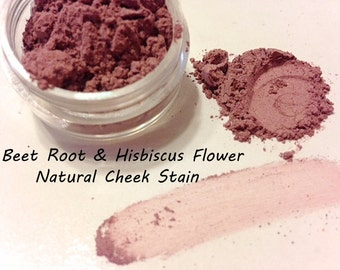 BEET ROOT & HIBISCUS Flower Face Color - Natural Cheek Stain Blush Plant Makeup