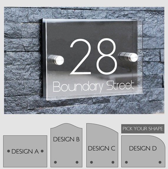 modern outdoor house number sign plaque street designer door. Black Bedroom Furniture Sets. Home Design Ideas