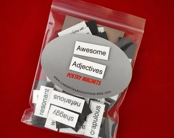Awesome Adjectives Poetry Magnet Set - Refrigerator Poetry Magnets