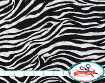 ZEBRA Fabric by the Yard, Fat Quarter BLACK & WHITE Fabric Zebra Skin Fabric Quilting Fabric Apparel Fabric 100% Cotton Fabric Yardage a2-7