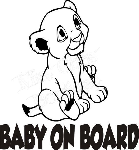 Baby On Board Car Decal Nursery Wall Decor Baby On Board
