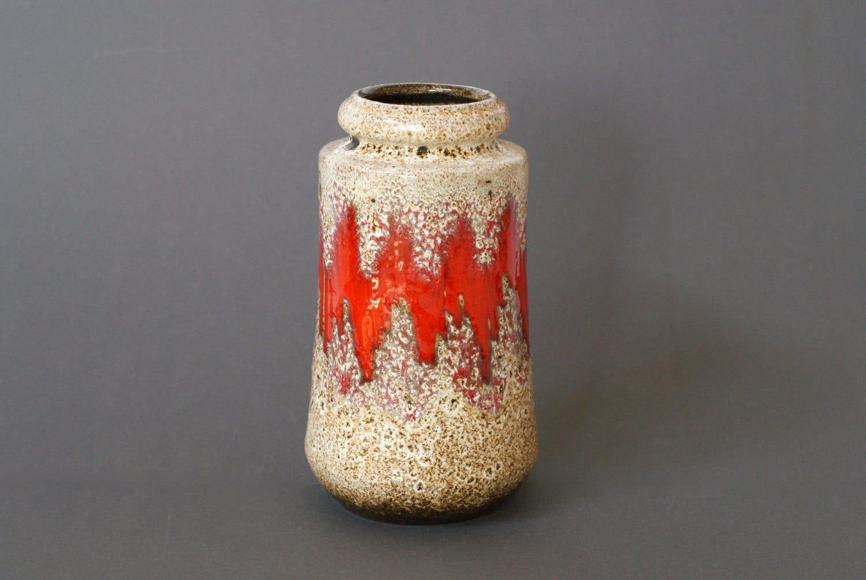 WEST GERMAN POTTERY Vase Scheurich 549-21 Lora Design