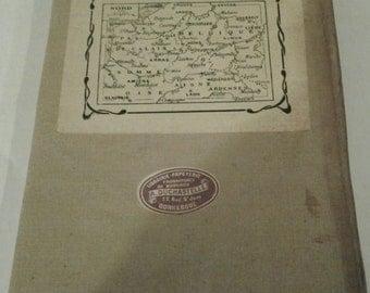 WW I French Battlefield Folding Map