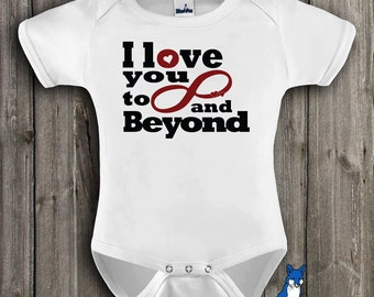Geekery Baby, cute baby clothes, I love you to infinity and beyond, Nerdy baby, Infinity symbol, baby one piece, by BlueFoxApparel *236