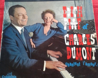 Disk of Édith Piaf and Charles Dumont