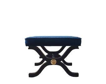 Dorothy Draper Style X Bench