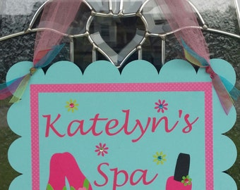 SPA PARTY Door Sign, Birthday Party Door Sign