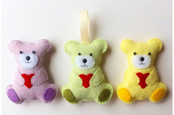 make your own teddy bear template - teddy bear feltie pdf sewing pattern and tutorial instant