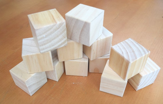 bulk large wooden block craft blanks 7cm solid
