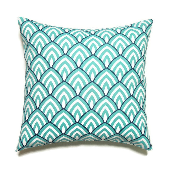 Modern Blue Outdoor Pillows : Modern Outdoor Pillow Covers Blue Decorative Summer Pillows