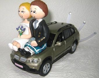 Car wedding cake topper, SUV wedding cake topper