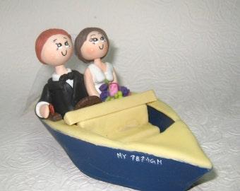 Custom weedding cake topper, boat wedding cake topper, sailor cake topper