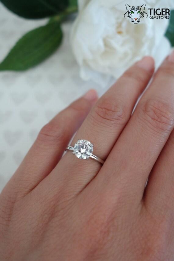 Six Prong Round Diamond Engagement Ring
