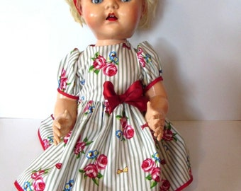 Vintage Pedigree Walker Flirty Eye Doll.